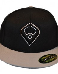 LIVE IT FLEXIE – BLACK/GRAY Fitted Pro-Style On Field Shape Cap 6-Panel, mid-profile, Permacurv PE visor with self-colored under-visor. Embroidered: 3d front bug logo, back feartofaith logo, custom ftf branded...