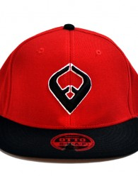 LIVE IT SNAPBACK Red & Black 6-panel Cap Seamed Front Panel with Full Buckram 6 Embroidered Eyelets Matching Crown Color Pro Stitch on Crown 8 Rows Stitching on Visor Gray Undervisor Plastic Snap...