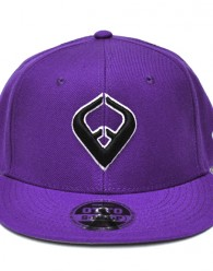 LIVE IT SNAPBACK PURPLE 6-panel Cap Seamed Front Panel with Full Buckram 6 Embroidered Eyelets Matching Crown Color Pro Stitch on Crown 8 Rows Stitching on Visor Gray Undervisor Plastic Snap Closure Embroidered:...