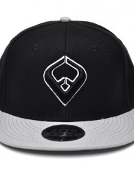 LIVE IT SNAPBACK Black & Gray 6-panel Cap Seamed Front Panel with Full Buckram 6 Embroidered Eyelets Matching Crown Color Pro Stitch on Crown 8 Rows Stitching on Visor Gray Undervisor Plastic Snap...