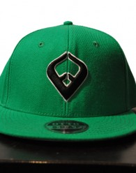 LIVE IT SNAPBACK GREEN 6-panel Cap Seamed Front Panel with Full Buckram 6 Embroidered Eyelets Matching Crown Color Pro Stitch on Crown 8 Rows Stitching on Visor Gray Undervisor Plastic Snap Closure Embroidered:...
