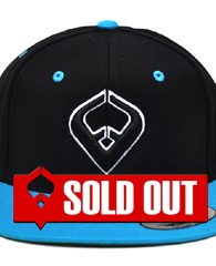 LIVE IT SNAPBACK Black & Teal 6-panel Cap Seamed Front Panel with Full Buckram 6 Embroidered Eyelets Matching Crown Color Pro Stitch on Crown 8 Rows Stitching on Visor Gray Undervisor Plastic Snap...