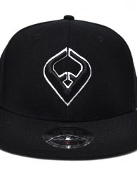 LIVE IT SNAPBACK Black 6-panel Cap Seamed Front Panel with Full Buckram 6 Embroidered Eyelets Matching Crown Color Pro Stitch on Crown 8 Rows Stitching on Visor Gray Undervisor Plastic Snap Closure Embroidered:...