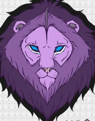 FTF Purple Lion Poster 11 x 17 Poster Printed on thick stock Gloss Paper The lion embodies courage.  We felt that really reflected our hopes that you will find the...