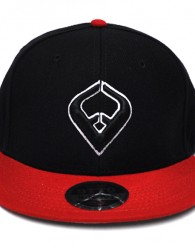 LIVE IT SNAPBACK Black & Red 6-panel Cap Seamed Front Panel with Full Buckram 6 Embroidered Eyelets Matching Crown Color Pro Stitch on Crown 8 Rows Stitching on Visor Gray Undervisor Plastic Snap...