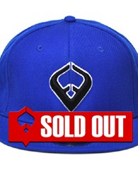 LIVE IT SNAPBACK Royal Blue 6-panel Cap Seamed Front Panel with Full Buckram 6 Embroidered Eyelets Matching Crown Color Pro Stitch on Crown 8 Rows Stitching on Visor Gray Undervisor Plastic Snap Closure...