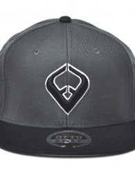 LIVE IT SNAPBACK Charcoal & Black 6-panel Cap Seamed Front Panel with Full Buckram 6 Embroidered Eyelets Matching Crown Color Pro Stitch on Crown 8 Rows Stitching on Visor Gray Undervisor Plastic Snap...
