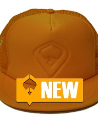 Live it Gold Trucker – Gold 100% Polyester Front 100% Nylon Mesh Back 5-panel cap Seamless Foam Front Panel with Lining 8 Rows Stitching on Visor Matching Fabric Undervisor Matching...