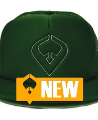 Live it Jade Trucker – Dark Green 100% Polyester Front 100% Nylon Mesh Back 5-panel cap Seamless Foam Front Panel with Lining 8 Rows Stitching on Visor Matching Fabric Undervisor...