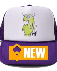 Curbdog Trucker Hat – Purple 100% Polyester Front 100% Nylon Mesh Back 5-panel cap Seamless Foam Front Panel with Lining 8 Rows Stitching on Visor Matching Fabric Undervisor Matching Color...