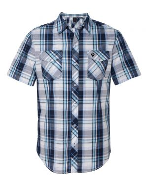 BURNSIDE-NAVY-PLAID-SHIRT-B