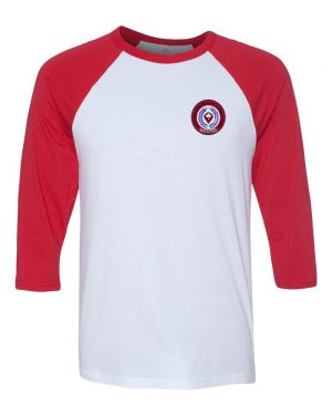 RAGLAN-WHITE-RED-CREST
